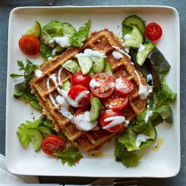 Receita de Falafel Waffled