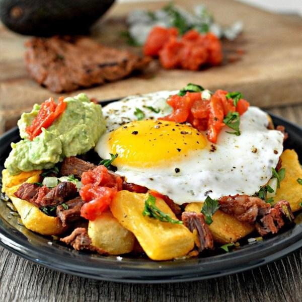 Carne Asada Receita de Batatas Fritas