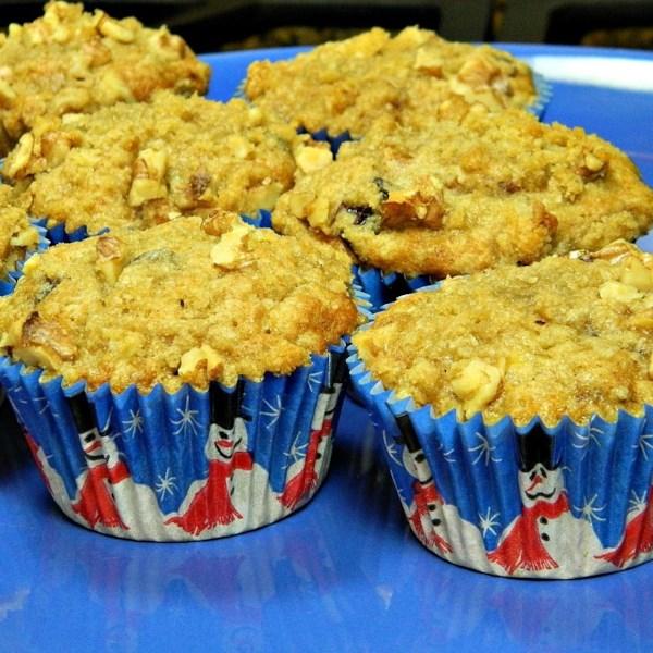 Receita de Muffins de Cranberry de Nozes de Banana