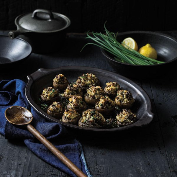 Receita de Cogumelos Recheados de Salsicha