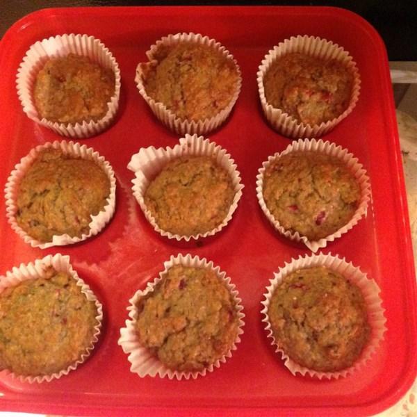 Receita de Muffins de Nozes de Banana Cranberry