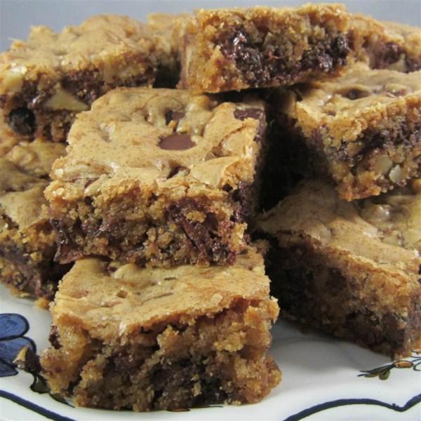 Receita de barras de biscoito de chocolate escuro da Kirsten
