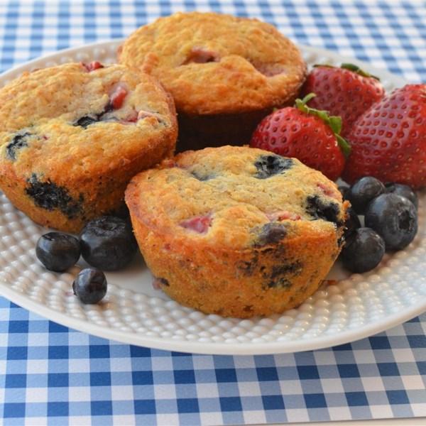 Receita de Muffins de Morango de Aveia Integral