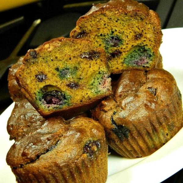 Receita de Muffins de Chocolate de Caju de Abóbora