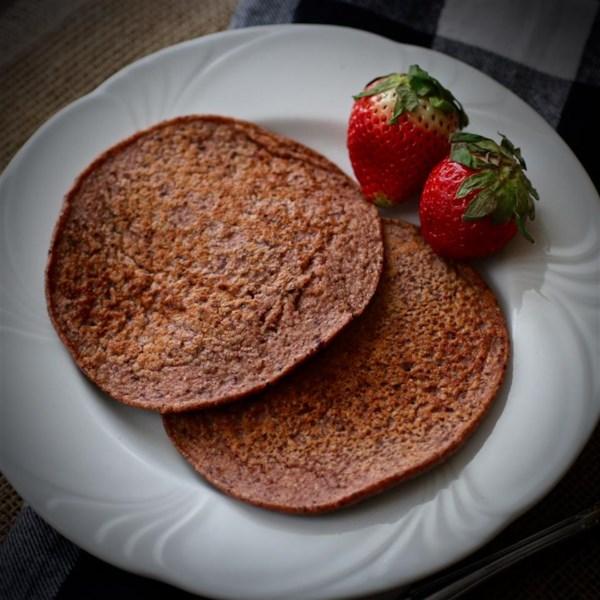 Receita de Panquecas de Iogurte Grego chip de chocolate de aveia de morango