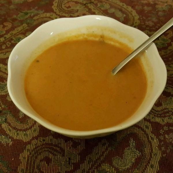 Cenoura cremosa com receita de sopa de curry