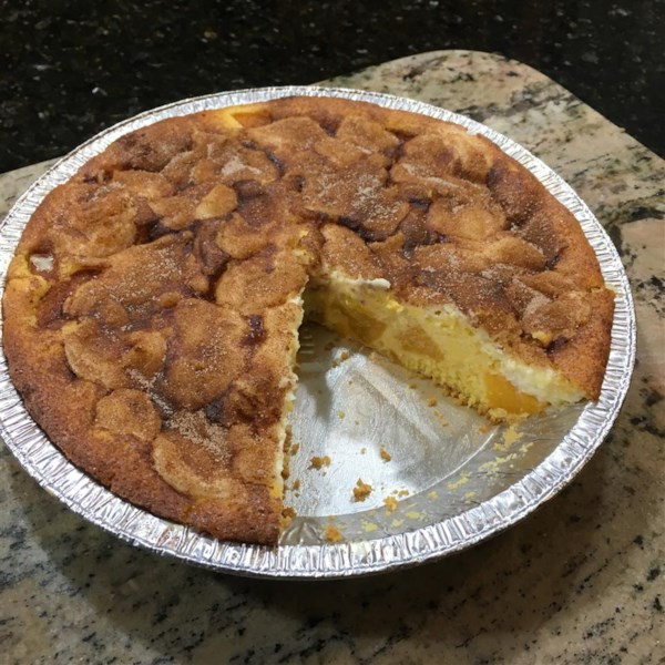 Receita premiada de pêssegos e torta de creme