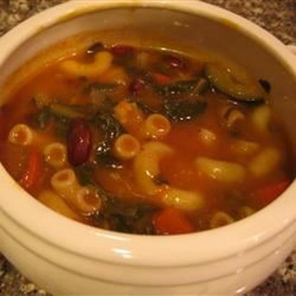 Receita de Sopa de Minestrone