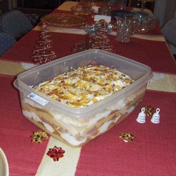 Receita de Trifle da caixa de maçã caramelo