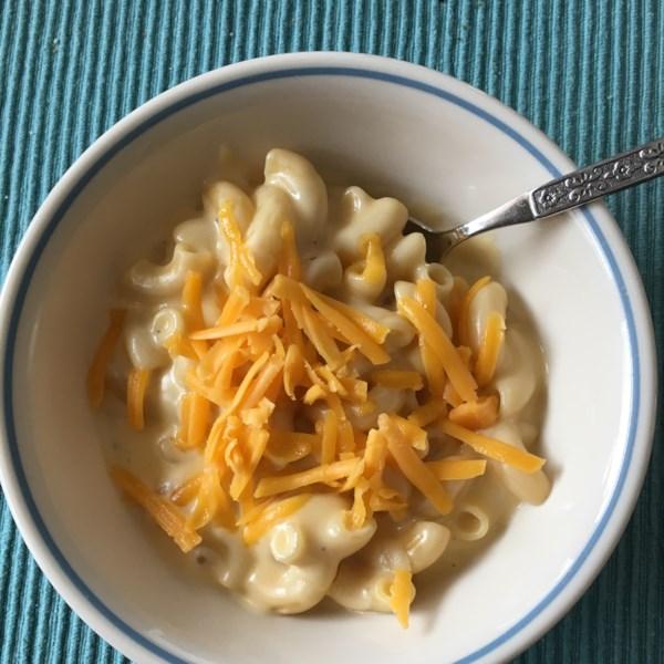Macarrão assado e queijo para uma receita