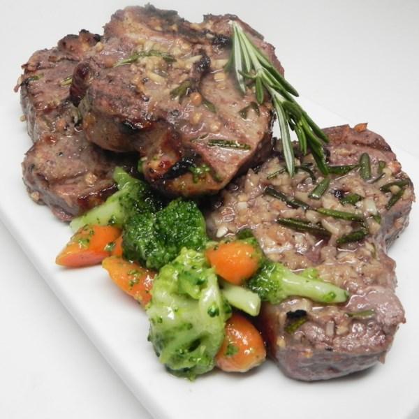 Receita de Carne grelhada de Bifes de Cordeiro
