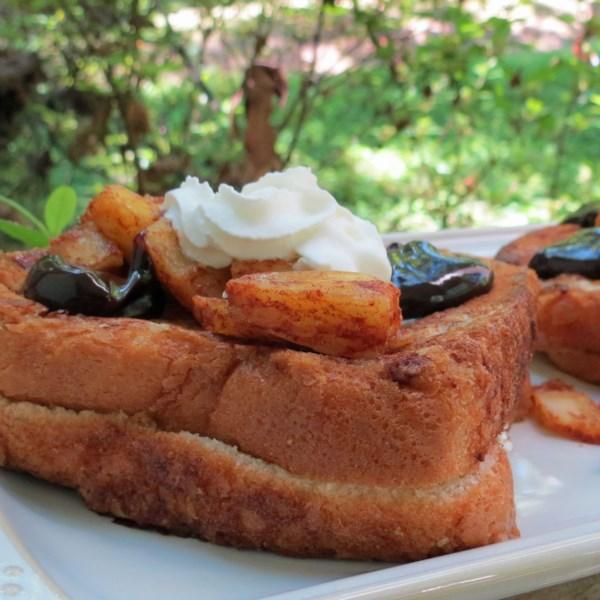 Receita de torrada francesa recheada com abacaxi