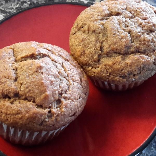 Receita de Muffins de Banana de Morango Saudável