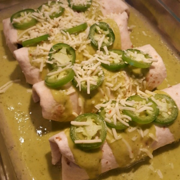Receita de Cremoso de Queijo Jalapeno Enchiladas