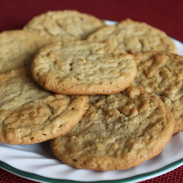 Receita de Biscoitos de Manteiga de Amendoim de Aveia
