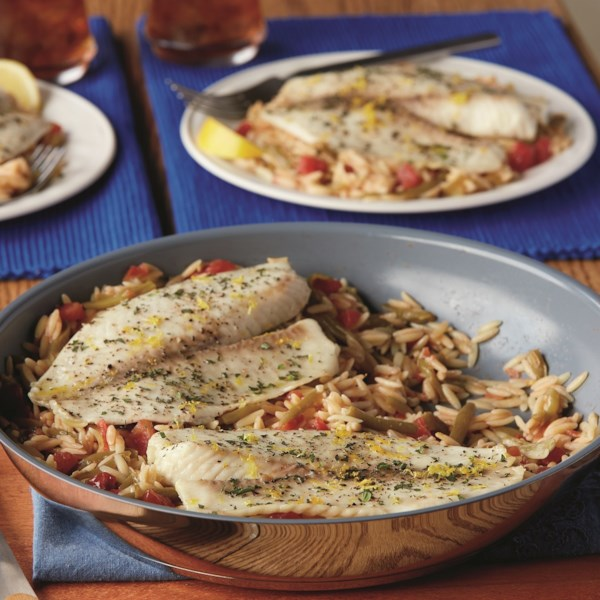 Receita de Frigideira de Peixe de Limão & Ervas