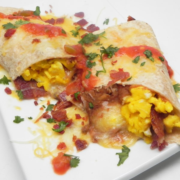 Burritos de Café da Manhã para Duas Receitas