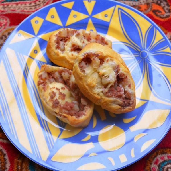 Receita de Pinwheels de Hash de Carne Enlatada Cremosa
