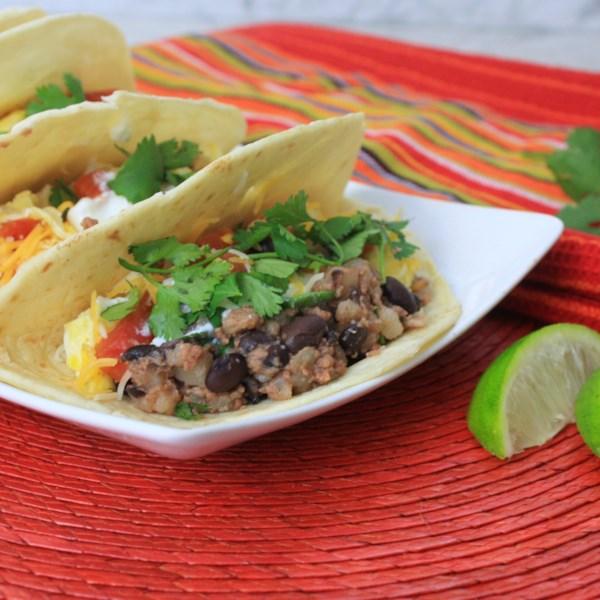 Receita de Tacos de Café da Manhã de Carne Enlatada