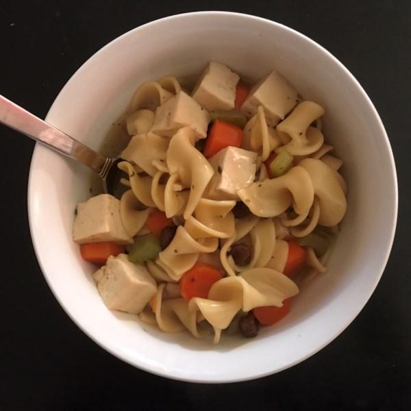 Receita de Sopa de Macarrão de Tofu de Sarah