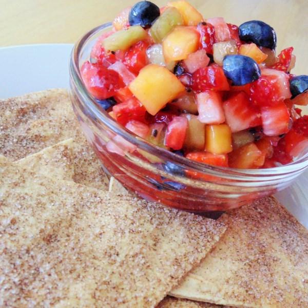 Receita de Salsa de Frutas e Chips de Canela da Annie
