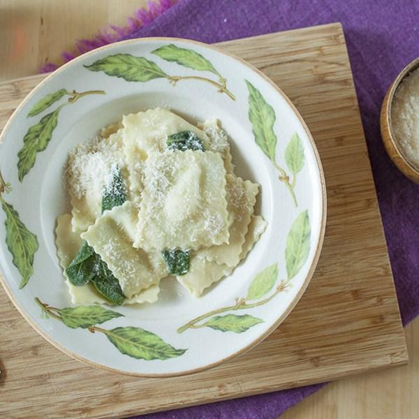 Receita caseira de Pera e Ravioli Gorgonzola