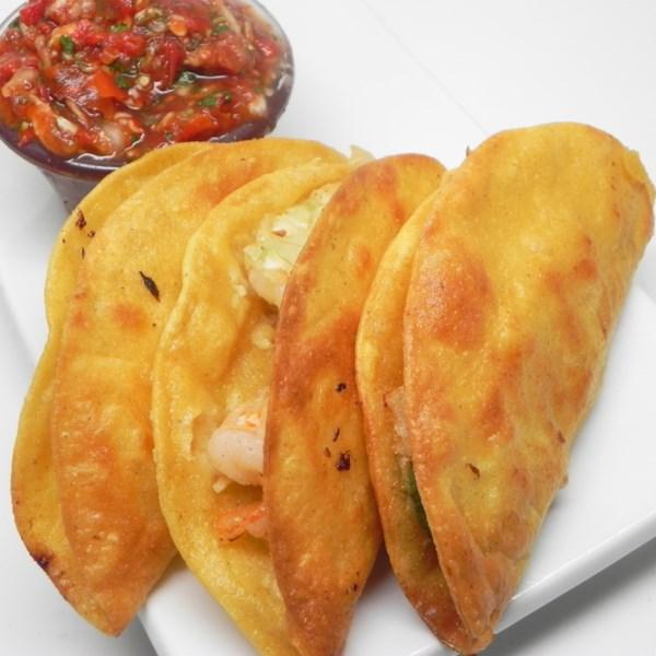 Receita de Tacos de Camarão Frito