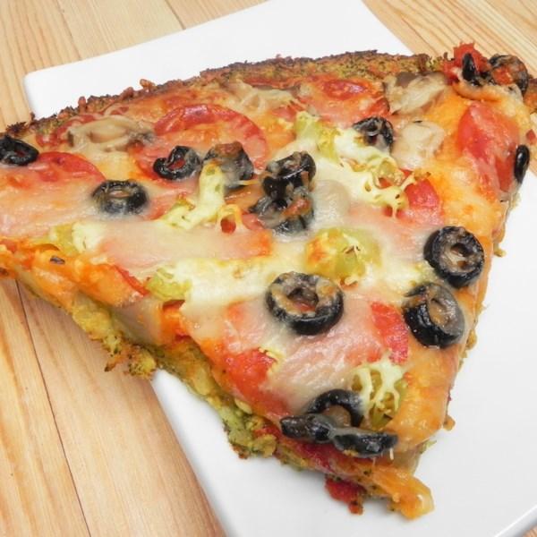 Receita de Crosta de Pizza de Arroz de Brócolis