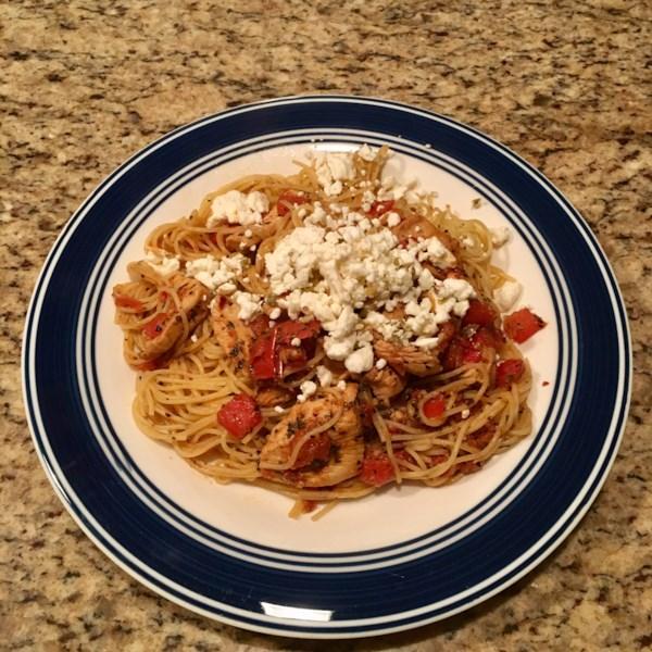 Receita de Espaguete de Frango da Califórnia