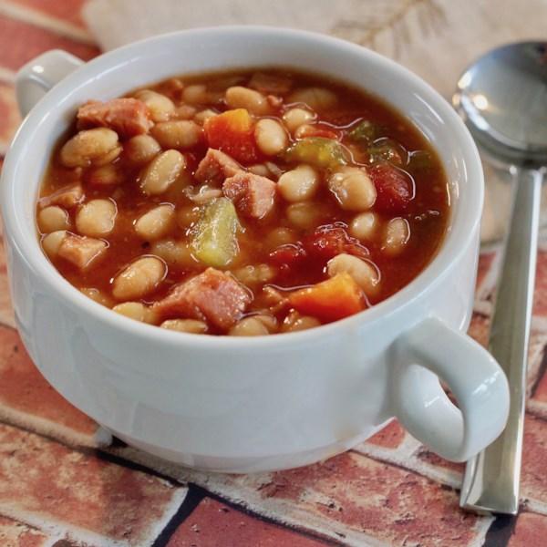 Receita de Sopa de Feijão E Presunto Instantâneo