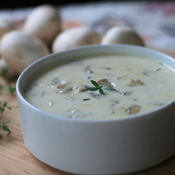 Receita de Creme low-carb de sopa de cogumelo