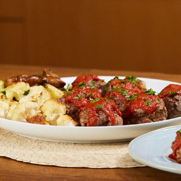 Mini Meatloaves e Receitas de Legumes Assados