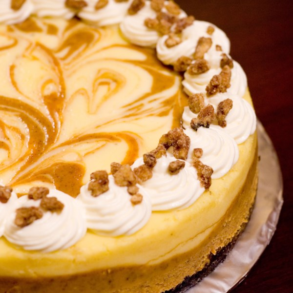 Receita de Cheesecake de Abóbora de Mármore