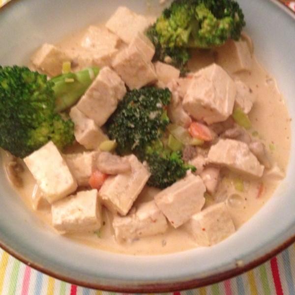 Fácil Vegan O Curry com Receita de Tofu e Legumes