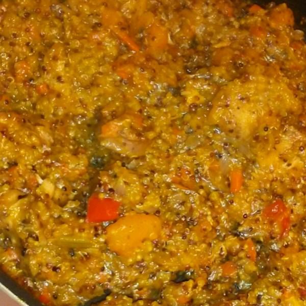 Stovetop Abóbora de Manteiga e Ensopado de Frango com Receita de Quinoa