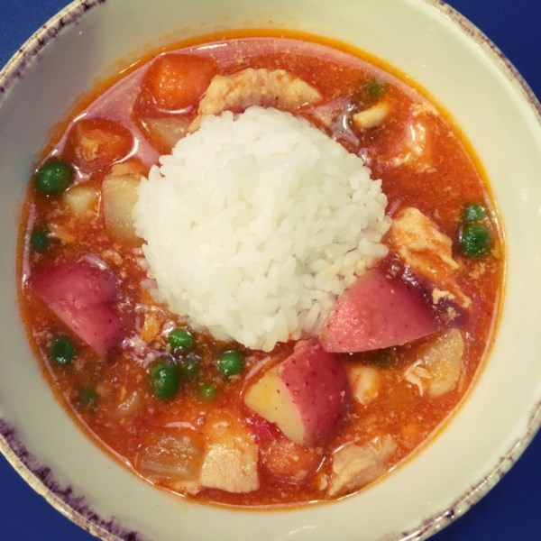 Instant Pot(R) Curry Vermelho Tailandês com Receita de Frango