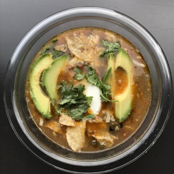 Receita de Sopa de Tortilla de Frango de Panela Instantânea (R)