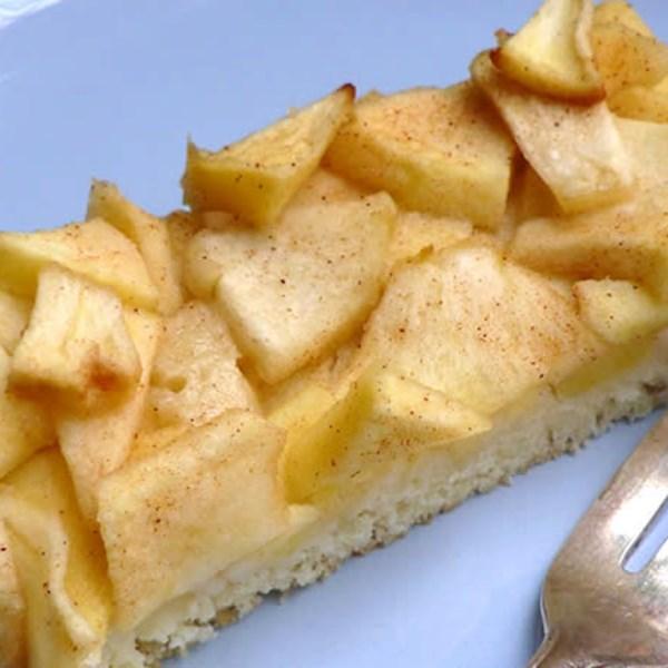 Receita de bolo de folha de maçã alemão fácil