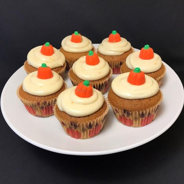 Receita de Cupcakes de Abóbora de Colheita
