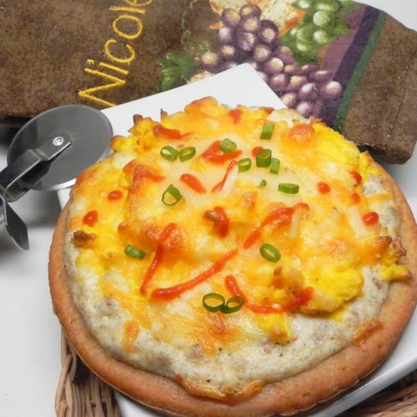 Receita de Pizza de Café da Manhã da Salsicha country