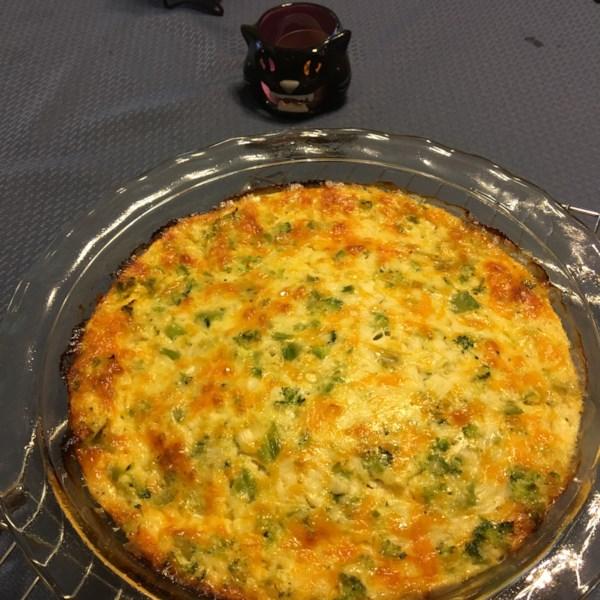 Quiche de espinafre com receita de queijo cottage