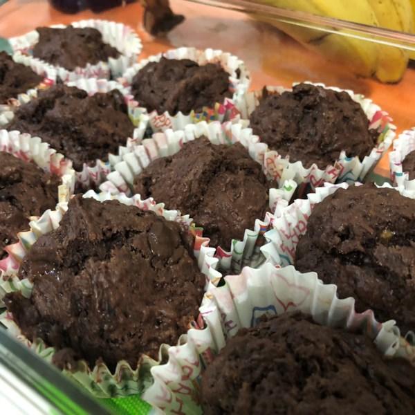 Receita de Muffins de Chocolate de Banana