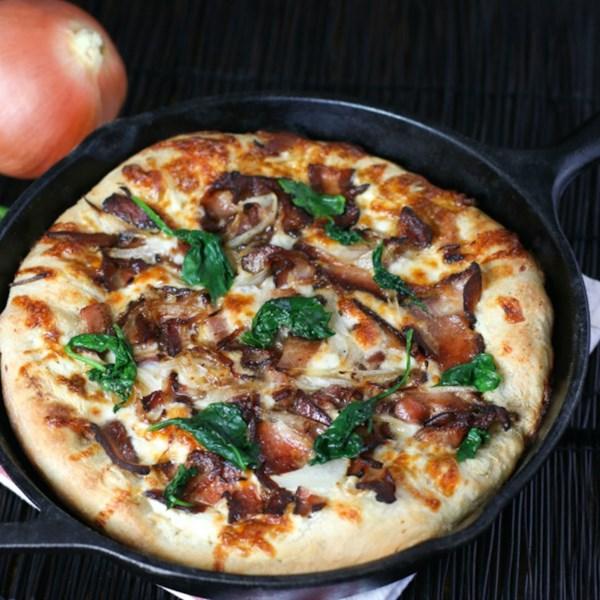 Receita de Pizza de Café da Manhã de Frigideira
