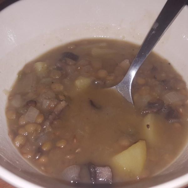 Receita de Cogumelo, Lentilha e Sopa de Batata