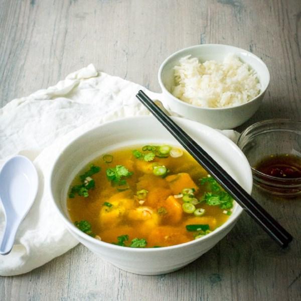 Receita de Sopa de Abóbora Kabocha Vietnamita
