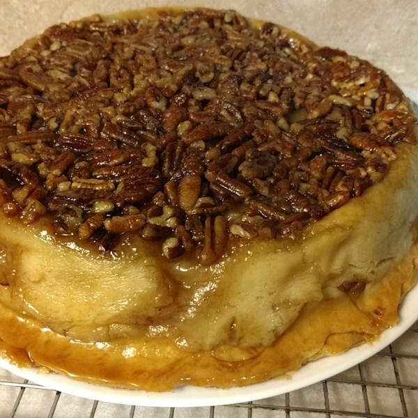 Receita de torta de nozes de maçã de cabeça para baixo