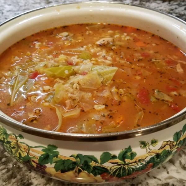 Receita de Sopa de Carcaça de Peru