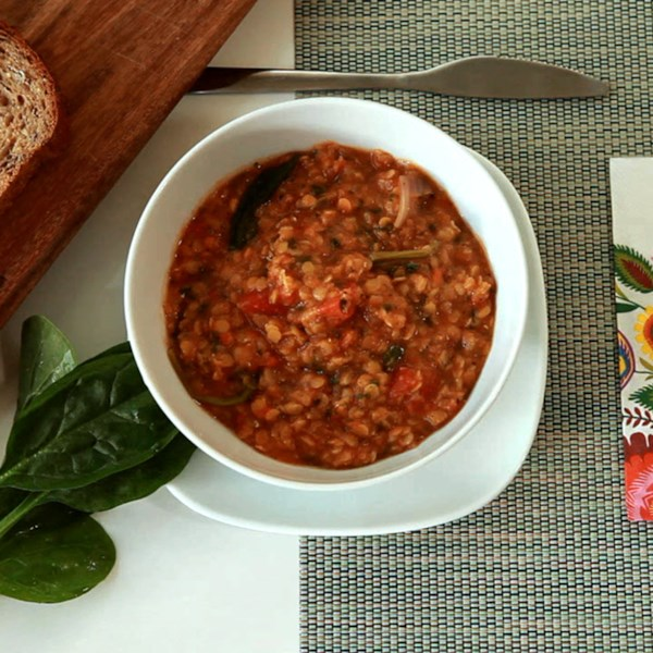 Receita de Sopa de Lentilha Vermelha Picante de Bryan