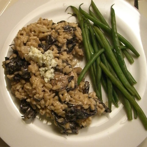 Receita de Risoto de Gorgonzola e Cogumelo Selvagem