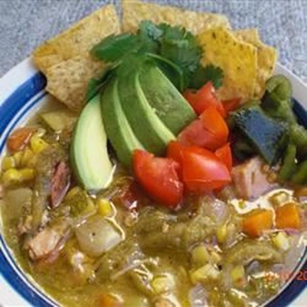 Receita mexicana de chowder de milho